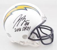 """Joey Bosa Signed Chargers Mini Helmet Inscribed """"2016 DROY"""" (JSA COA) at PristineAuction.com"""