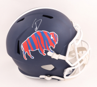 Stefon Diggs Signed Bills Full-Size Matte Navy Speed Helmet (Beckett Hologram) (See Description) at PristineAuction.com