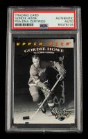 Gordie Howe Signed 1992-93 Upper Deck Gordie Howe Heroes #22 / '50s Scoring Champion (PSA Encapsulated) at PristineAuction.com