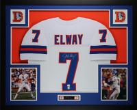 John Elway Signed 35x43 Custom Framed Jersey Display (JSA COA) at PristineAuction.com