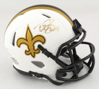 Drew Brees Signed Saints Lunar Eclipse Alternate Speed Mini Helmet (Beckett COA) (See Images) at PristineAuction.com