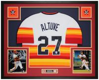 Jose Altuve Signed 35x43 Custom Framed Jersey Display (JSA COA & GTSM Hologram) at PristineAuction.com