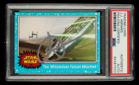 J. J. Abrams Signed 2015 Star Wars Journey to The Force Awakens #88 The Millennium Falcon Attacked (PSA Encapsulated) at PristineAuction.com