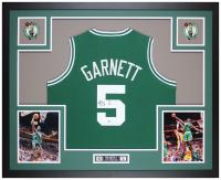 Kevin Garnett Signed 35x43 Custom Framed Jersey Display (Beckett COA) at PristineAuction.com