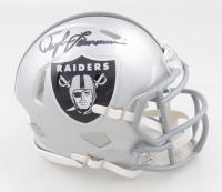 Daryle Lamonica Signed Raiders 60 Year Anniversary Logo Speed Mini Helmet (JSA COA) at PristineAuction.com