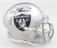 Daryle Lamonica Signed Raiders 60 Year Anniversary Logo Speed Mini Helmet (JSA COA) (See Description) at PristineAuction.com