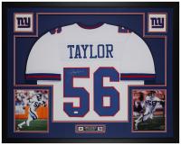 Lawrence Taylor Signed 35x43 Custom Framed Jersey Display (JSA COA) at PristineAuction.com