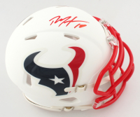 DeAndre Hopkins Signed Texans Matte White Speed Mini Helmet (JSA COA) at PristineAuction.com