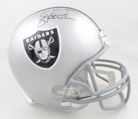"Jeff Hostetler Signed Raiders Full-Size Helmet Inscribed ""Just Win Baby"" (Schwartz Sports COA) at PristineAuction.com"