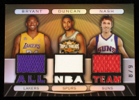 Kobe Bryant / Tim Duncan / Steve Nash 2007-08 Topps Triple Threads Relics Combos Sepia #40 #8/9 at PristineAuction.com