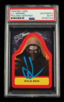 J. J. Abrams Signed 2015 Star Wars Journey to The Force Awakens Character Stickers #S11 Kylo Ren (PSA Encapsulated) at PristineAuction.com