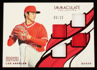 Shohei Ohtani 2019 Immaculate Collection Immaculate Quads Memorabilia Red #18 #9/25 at PristineAuction.com