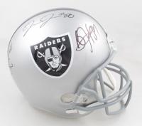 Josh Jacobs, Bo Jackson, & Marcus Allen Signed Raiders Full-Size Helmet (Beckett COA) at PristineAuction.com