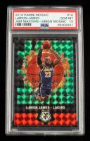 LeBron James 2019-20 Panini Mosaic Jam Masters Mosaic Green #16 (PSA 10) at PristineAuction.com