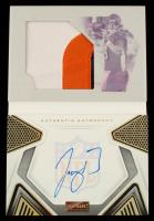 Joe Burrow 2020 Panini Playbook Rookies Playbook Jersey Autographs Printing Plates Magenta #201 #1/1 at PristineAuction.com