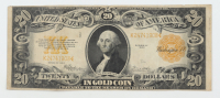 1922 $20 Twenty-Dollars U.S. Gold Certificate Large-Size Bank Note at PristineAuction.com