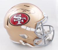 Vernon Davis Signed 49ers Full-Size Speed Helmet (Beckett COA) (See Description) at PristineAuction.com