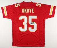 Christian Okoye Signed Jersey (JSA COA) at PristineAuction.com