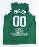 "Robert Parish Signed Career Highlight Stat Jersey Inscribed ""NBA Top 50"" (PSA COA & TriStar Hologram) (See Description) at PristineAuction.com"