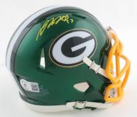 Davante Adams Signed Packers Flash Alternate Speed Mini Helmet (Beckett Hologram) at PristineAuction.com