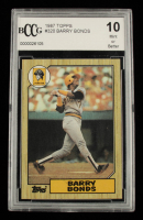 Barry Bonds 1987 Topps #320 RC (BCCG 10) at PristineAuction.com