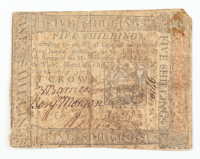 1773 5s. Five Shillings - Pennsylvania - Colonial Currency Note at PristineAuction.com