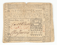 1773 6s. Six Shillings - Pennsylvania - Colonial Currency Note at PristineAuction.com