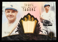 Babe Ruth 2014 Topps Tribute Tribute to the Throne Relics #THRONEBR #75/99 at PristineAuction.com