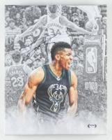 Giannis Antetokounmpo Signed Bucks 11x14 Print on Canvas (PSA COA) at PristineAuction.com