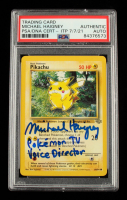 "Michael Haigney Signed 1999 Pokemon Jungle Unlimited #60 Pikachu Inscribed ""Pokemon TV Voice Director"" (PSA Encapsulated) at PristineAuction.com"