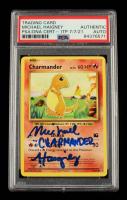 "Michael Haigney Signed 2016 Pokemon Evolutions #9 Charmander Inscribed ""Charmander"" (PSA Encapsulated) at PristineAuction.com"