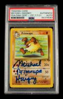 "Michael Haigney Signed 1999 Pokemon Jungle Unlimited #43 Primeape Inscribed ""Primeape"" (PSA Encapsulated) at PristineAuction.com"