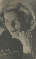 Vintage 1930s Katharine Hepburn Postcard at PristineAuction.com