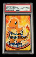 "Michael Haigney Signed 1999 Pokemon TV Animation Series 1 #4 Charmander Inscribed ""Charmander"" (PSA Encapsulated) at PristineAuction.com"