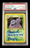 "Michael Haigney Signed 1999 Pokemon Fossil Unlimited #13 Muk Holo Inscribed ""M-U-U-U-U-K"" (PSA Encapsulated) at PristineAuction.com"