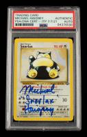 "Michael Haigney Signed 1999 Pokemon Jungle Unlimited #27 Snorlax Inscribed ""Snorlax"" (PSA Encapsulated) at PristineAuction.com"