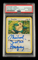 """Michael Haigney Signed 2019 Pokemon Sun and Moon Hidden Fates #50 Snorlax Inscribed """"Snorlax"""" (PSA Encapsulated) at PristineAuction.com"""