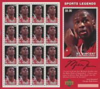 Michael Jordan Bulls Uncut Stamp Sheet with (16) Stamps at PristineAuction.com