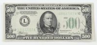 1934 $500 Five-Hundred Dollars Federal Reserve Note at PristineAuction.com