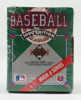 1990 Upper Deck High Number Series Box with (100) Baseball Cards at PristineAuction.com