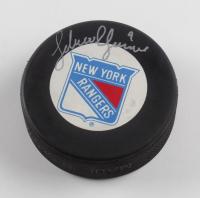 Adam Graves Signed Rangers Logo Hockey Puck (JSA COA) (See Description) at PristineAuction.com