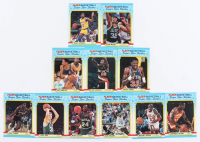 1988-89 Fleer Stickers Complete Set of (11) Basketball Cards with #7 Michael Jordan at PristineAuction.com