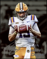 """Myles Brennan Signed LSU Tigers 8x10 Photo Inscribed """"2019 Natty Champs!"""" (PSA COA) at PristineAuction.com"""