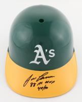 "Jose Canseco Signed Athletics Full-Size Batting Helmet Inscribed ""88 AL MVP"" & ""40/40"" (Beckett Hologram) at PristineAuction.com"