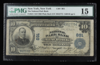 1902 $10 Ten-Dollars U.S. National Currency Large-Size Bank Note - The National Park Bank of New York, New York (PMG 15) at PristineAuction.com