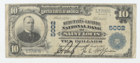 1902 $10 Ten-Dollars U.S. National Currency Large-Size Bank Note - The Merchants-Laclede National Bank of Saint Louis, Missouri at PristineAuction.com