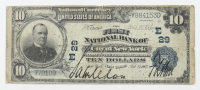 1902 $10 Ten-Dollars U.S. National Currency Large-Size Bank Note - The First National Bank of the City of New York, New York at PristineAuction.com