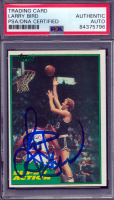 Larry Bird Signed 1981-82 Topps #E101 (PSA Encapsulated) at PristineAuction.com