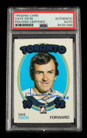 Dave Keon Signed 2009-10 ITG 1972 The Year In Hockey #22 (PSA Encapsulated) at PristineAuction.com