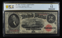 1917 $2 Two-Dollars Red Seal U.S. Legal Tender Large-Size Bank Note (PCGS 12) at PristineAuction.com